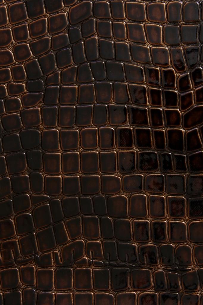 образец кожи Крокодил коричневый