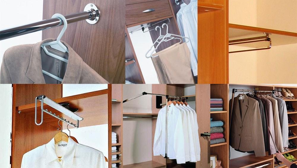 фото вешалок для одежды во встроенных шкафах вас заинтересовало