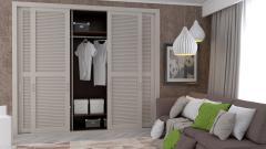 Шкаф купе с жалюзийными дверьми