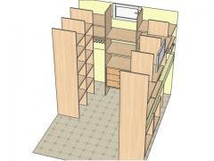 Гардеробная комната из ДСП/Шпонированное МДФ вид 2