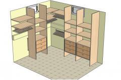 Ггардеробная комната из ДСП/Шпонированное МДФ вид 1
