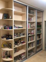 Книжный шкаф-купе для библиотеки