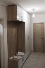 Комплект мебели в прихожую: вешалка, тумба, шкаф с антресолью