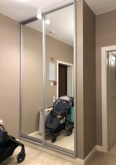 2-х дверный, встроенный шкаф-купе декорированный