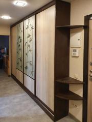 шкаф-купе с дизайнерской отделкой на заказ