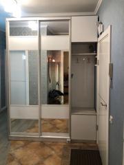 Шкаф-купе для верхней одежды с раздвижными зеркальными фасадами