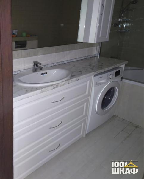 Тумба под раковину в ванную комнату белого цвета
