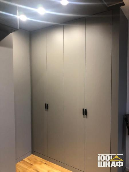серый шкаф на заказ