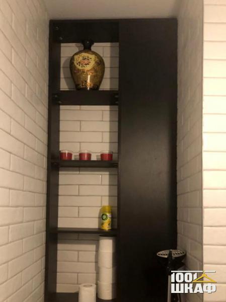 Шкаф с открытыми полками в цвете Венге
