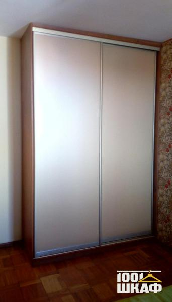 2-х дверный компактный шкаф-купе с наполнением.