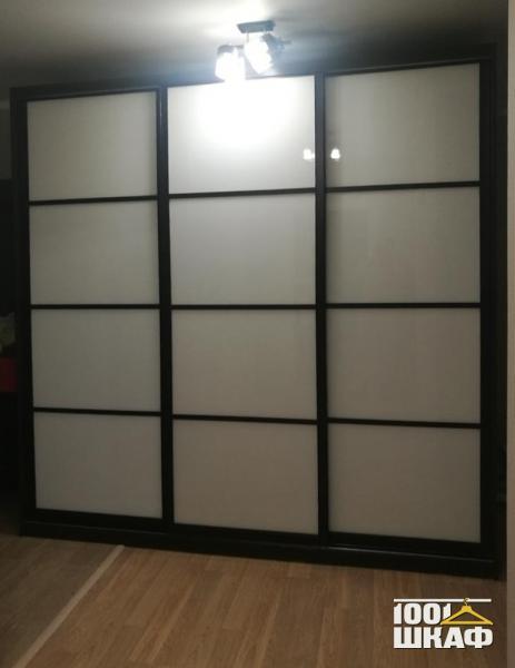 3-х дверный, встроенный шкаф-купе декорированный