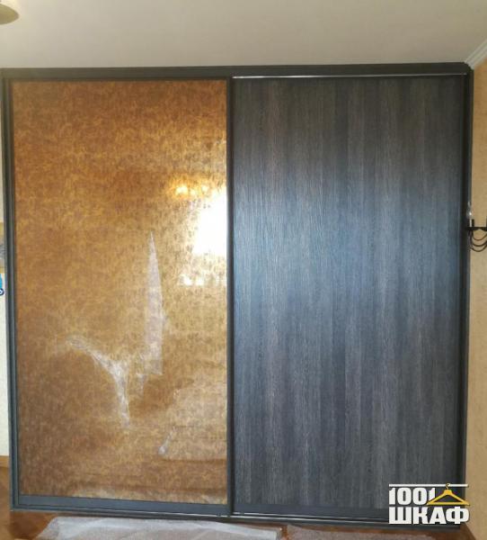 2-х дверный шкаф-купе, декорированный пленкой оракл