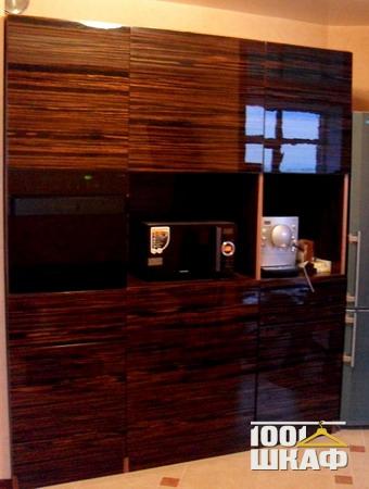 Шкаф для техники глянцевый шпон