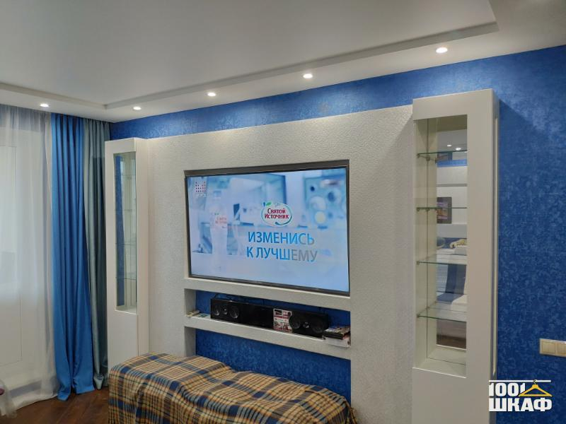 Стеновая панель с полками в гостиную