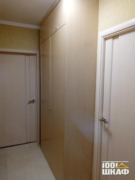 Встроенный в стену шкаф с антресолью