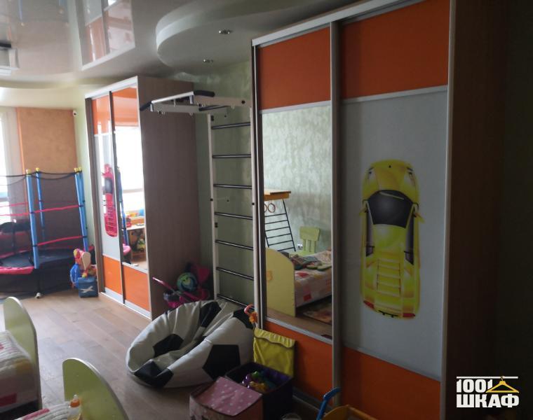 шкаф-купе в детскую комнату для мальчика
