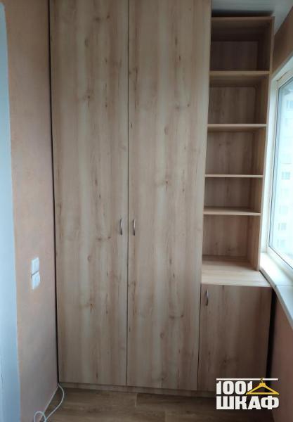 Шкаф с открытыми полками на лоджию