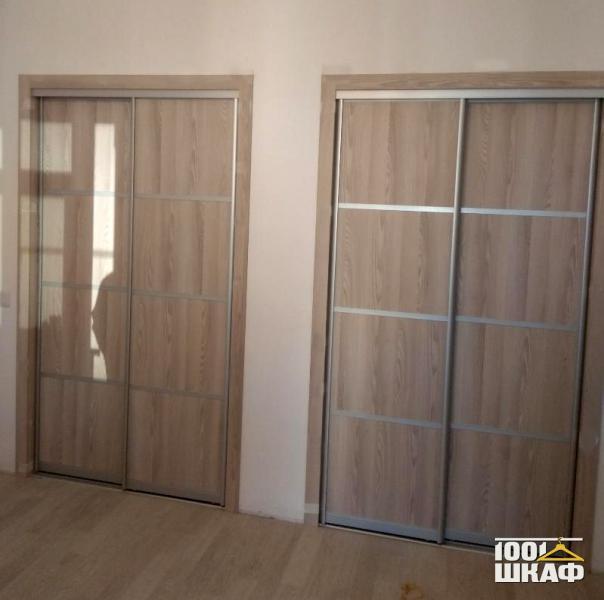 Встроенные 2-х дверные шкафы купе