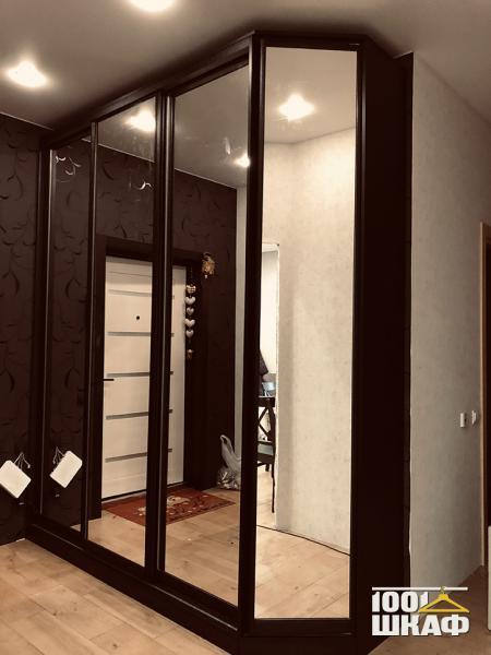 Шкаф-купе в прихожую с зеркальными фасадами