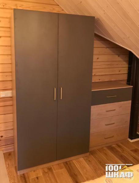 Шкаф и тумба с наполнением