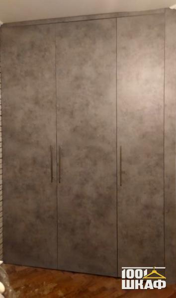 3-х дверный шкаф в цвете Бетон Чикаго