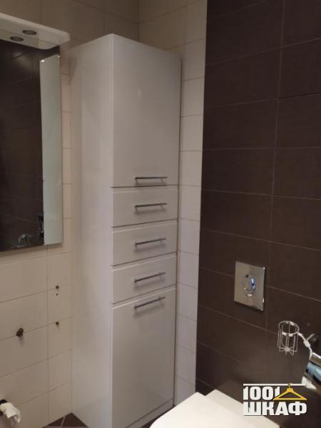 Небольшой шкаф в ванную комнату на заказ