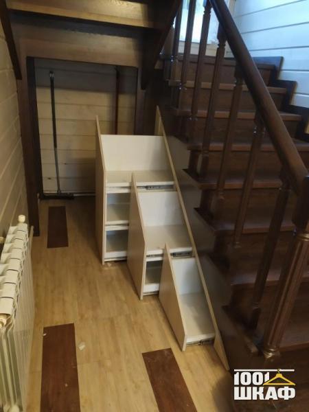 выдвижные ящики под лестницу