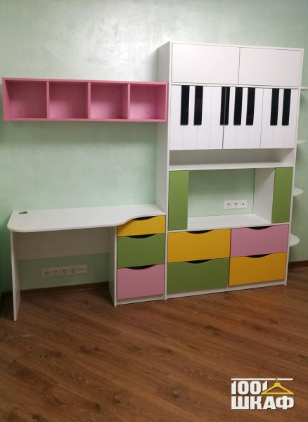 Комплект мебели для рабочей зоны в детскую комнату
