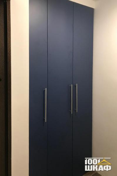 Черный распашной шкаф в комнату