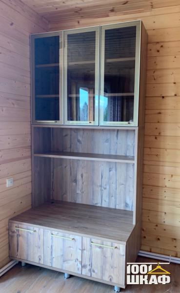 Шкаф с витринами для гостиной